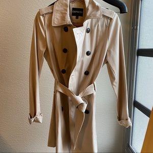 Express tan trench coat